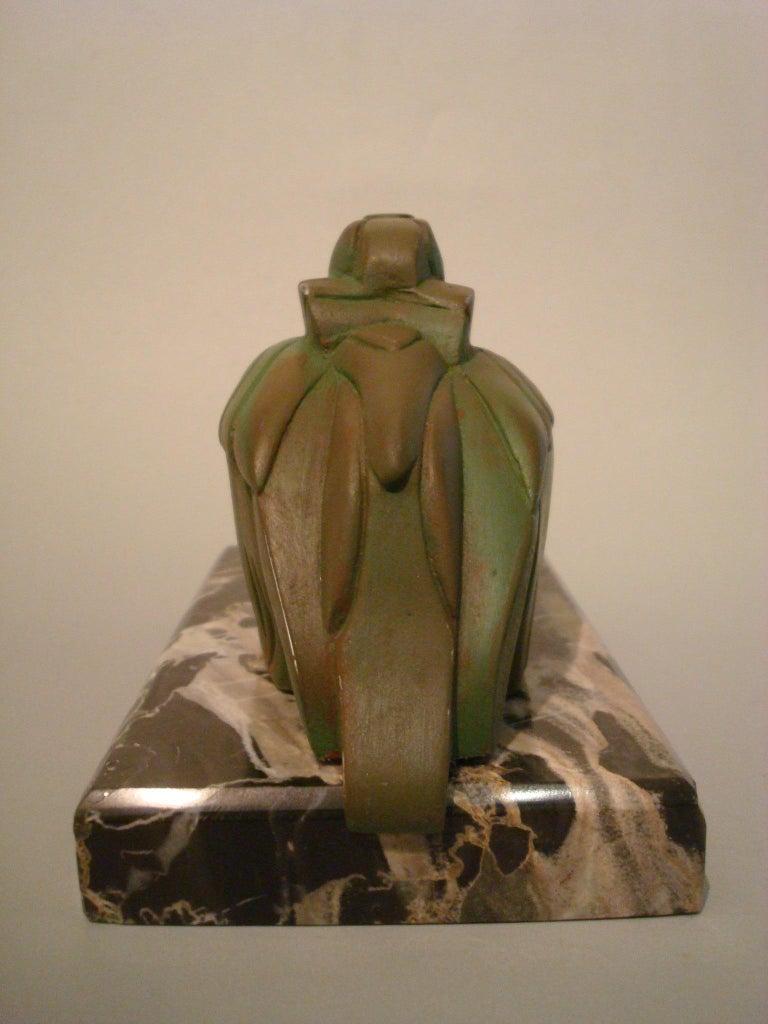 20th Century Art Deco Cubist Pelican Paperweight Desk Sculpture by G.H. Laurent, France, 1925 For Sale