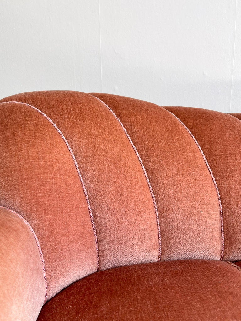 Art Deco Curved Sofa Sweden, 1930s For Sale 3