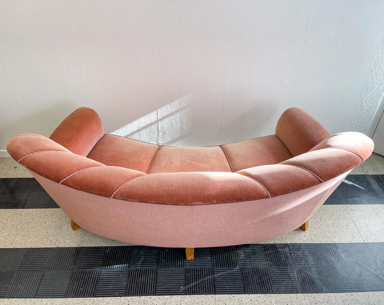 Art Deco Curved Sofa Sweden, 1930s For Sale 11