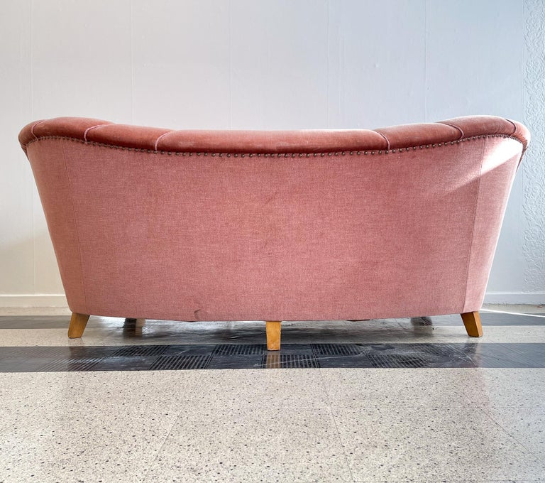 Art Deco Curved Sofa Sweden, 1930s For Sale 12