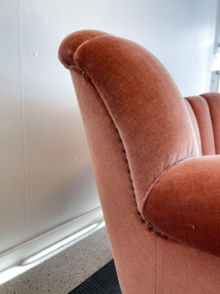 Art Deco Curved Sofa Sweden, 1930s For Sale 1