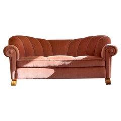 Art Deco Curved Sofa Sweden, 1930s