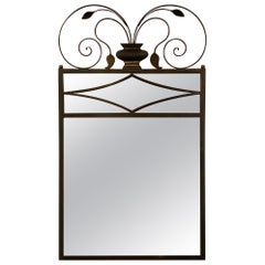 Art Deco Custom Made Iron Mirror