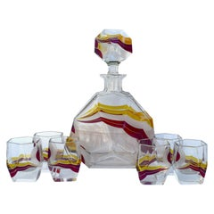 Art Deco Czech Decanter Set by Karl Palda, circa 1930