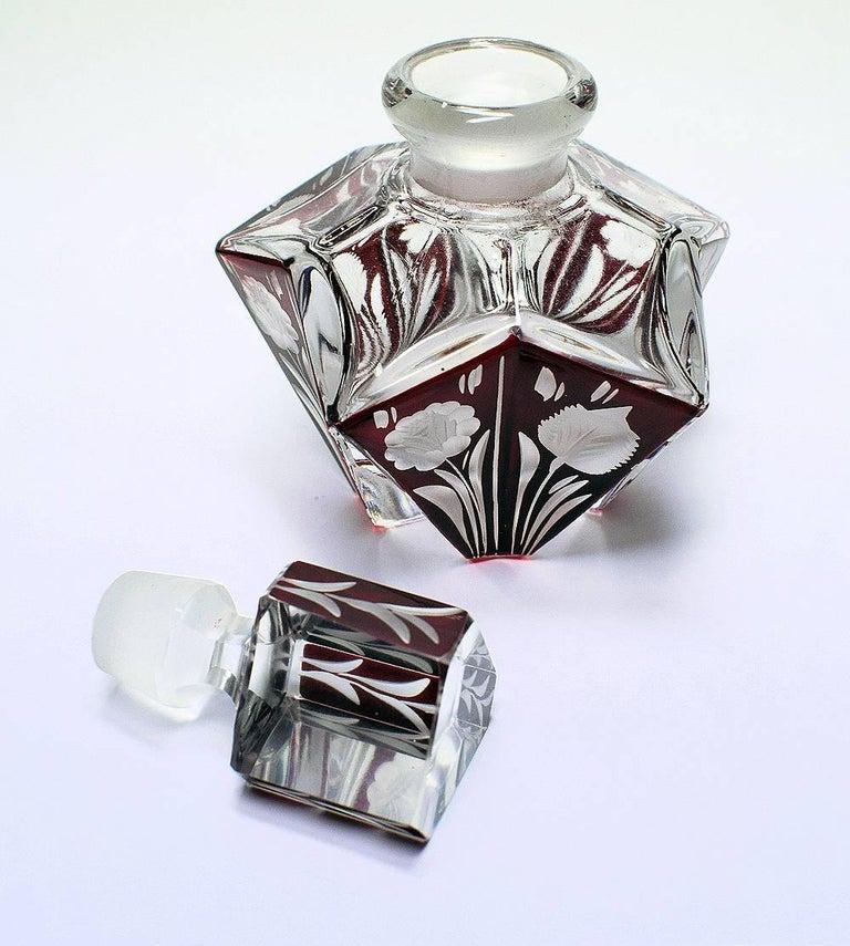 Art Deco Czech Ladies Perfume Bottle In Good Condition For Sale In Devon, England