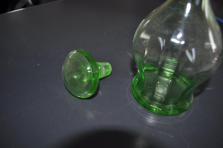 Art Deco Czech Liqueur Decanter Bottle In Good Condition For Sale In Lábatlan, HU