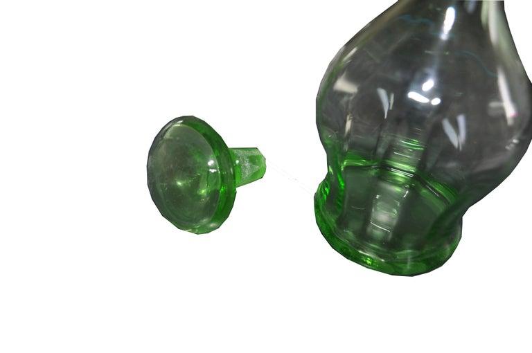 Mid-20th Century Art Deco Czech Liqueur Decanter Bottle For Sale