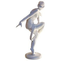 Art Deco Dancer Herend Porcelain Sculpture