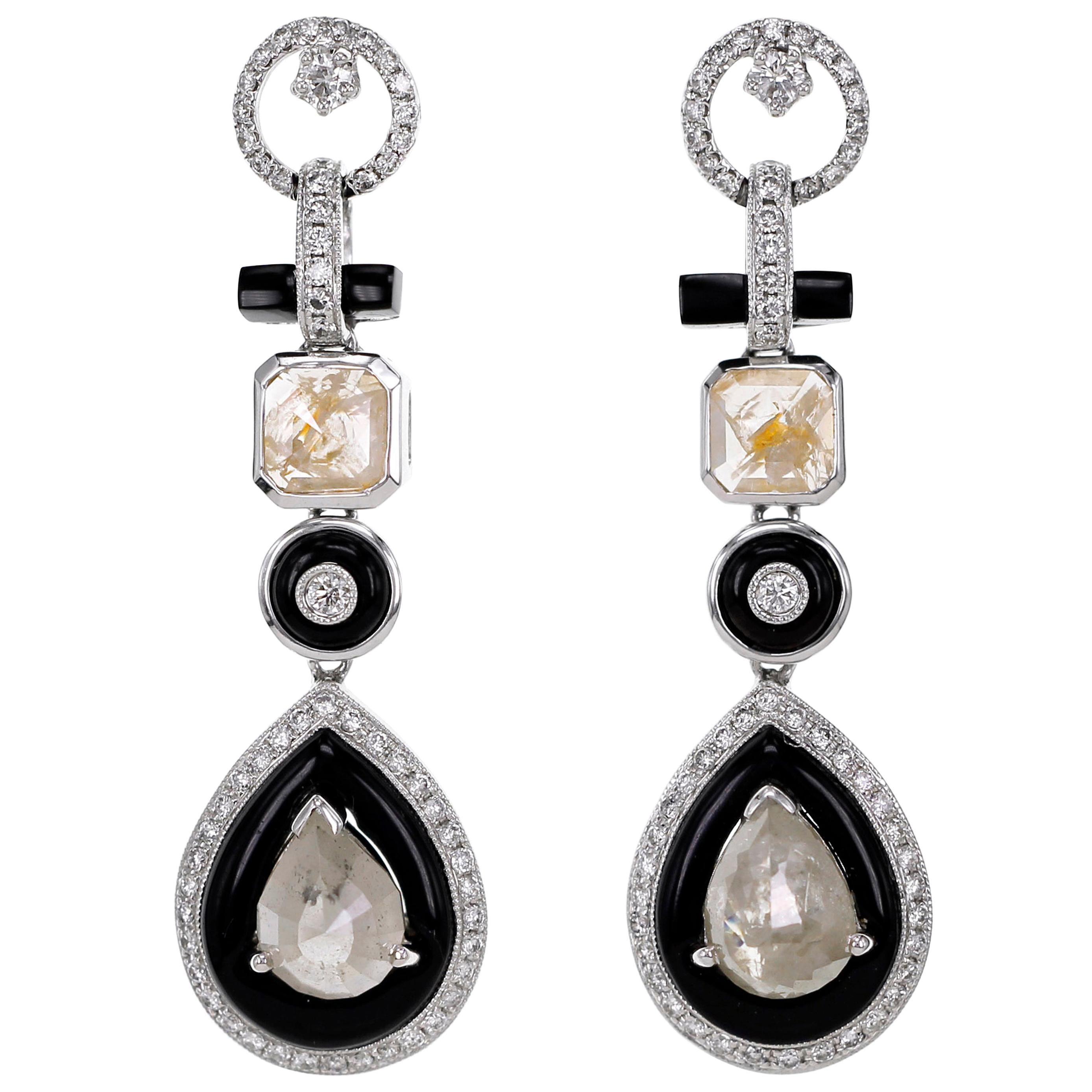 Art Deco Style Dangle Earring