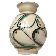 Art Deco Danish Pottery Vase by Herman August Kähler, 1930s