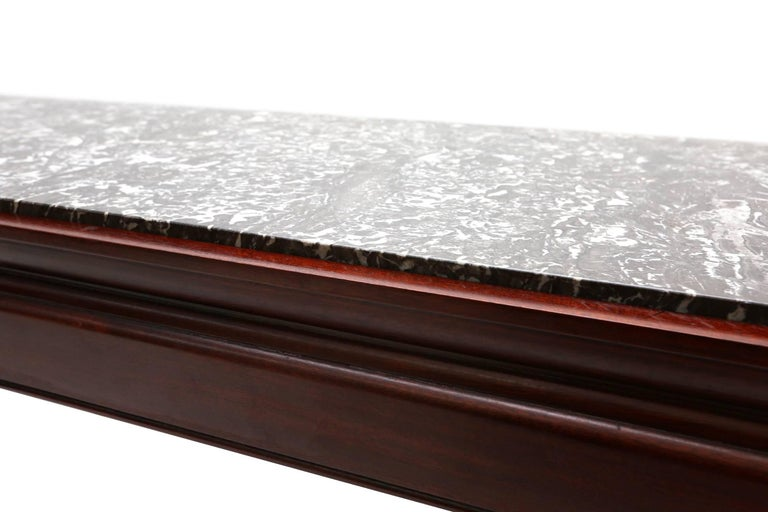 Art Deco De Coene Mahogany and Marble Coffee Table In Good Condition For Sale In Antwerp, BE