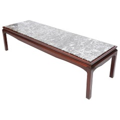 Art Deco De Coene Mahogany and Marble Coffee Table