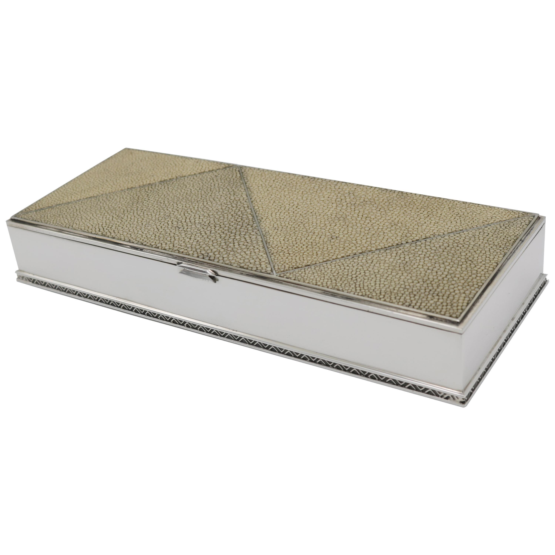 Art Deco Decorative Silver Box