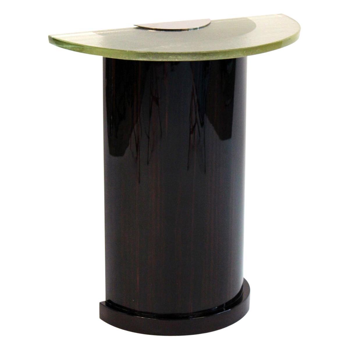 Art Deco Demi-Lune Console Table