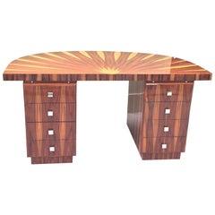 Art Deco Design Circular Inlaid Desk