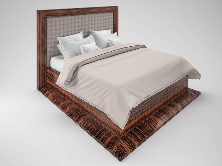 German Art Deco Design Macassar Bed For Sale