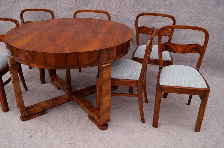 Early 20th Century Art Deco Designer Dining Room Set, 1930 For Sale