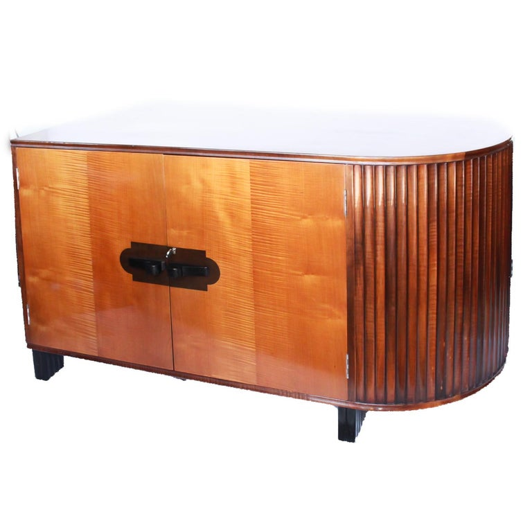 Art Deco Desk by Maurice Adams Satin Wood and Ebony, circa 1930 5