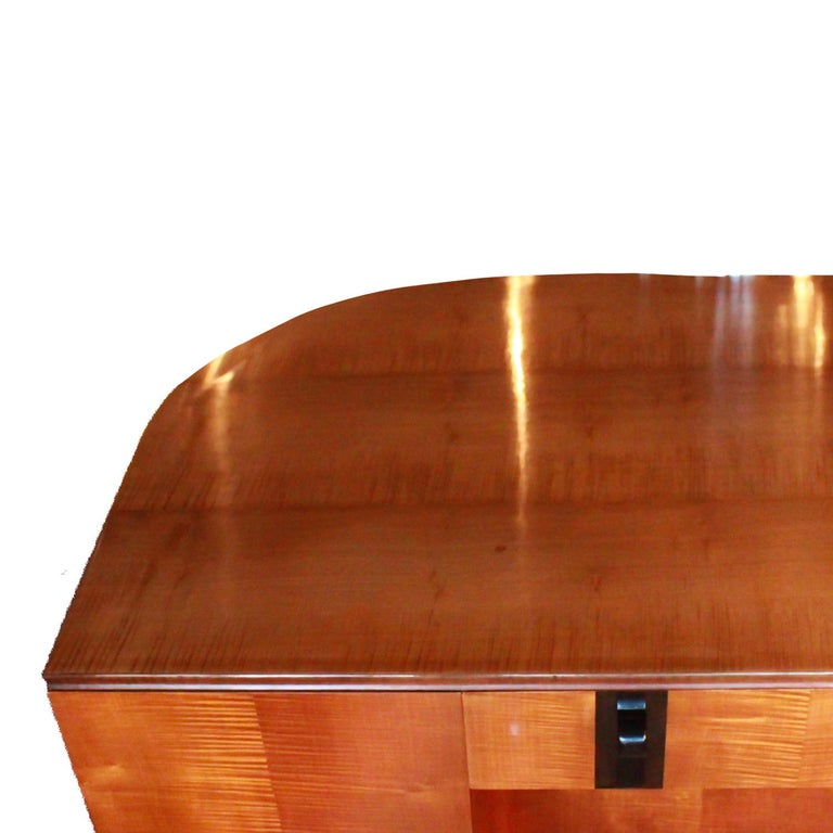 Art Deco Desk by Maurice Adams Satin Wood and Ebony, circa 1930 2