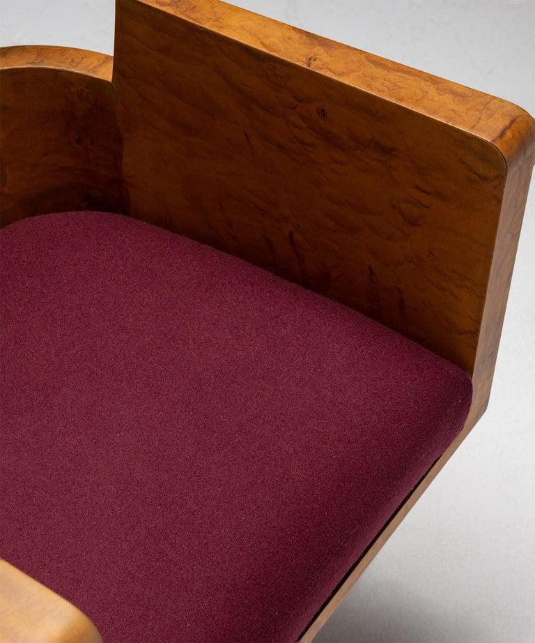 Art Deco Desk Chair, Italy Circa 1930 In Good Condition In Culver City, CA