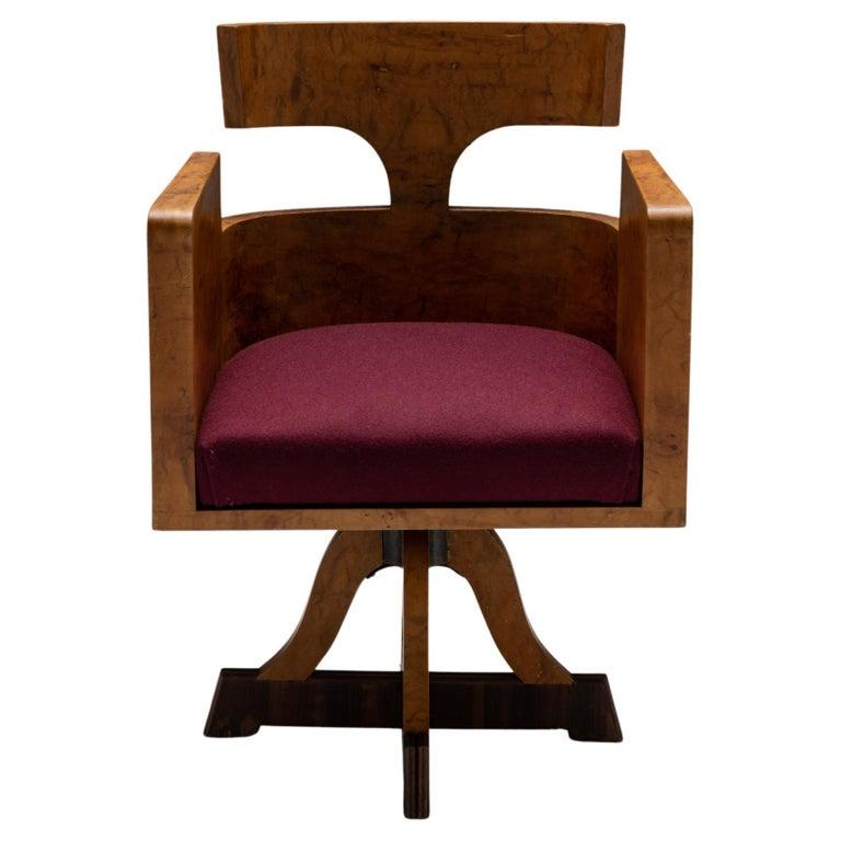 Art Deco Desk Chair, Italy Circa 1930