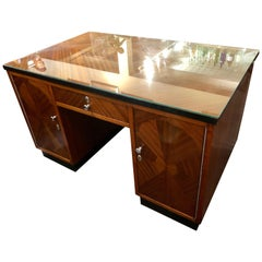 Art Deco Desk Classic Flamed Mahogany