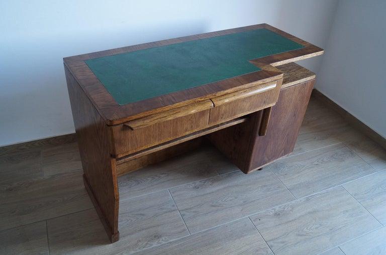 Art Deco Desk from 1960 In Good Condition For Sale In Kraków, Małopolska
