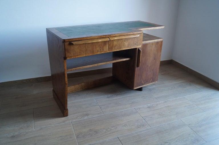 Oak Art Deco Desk from 1960 For Sale