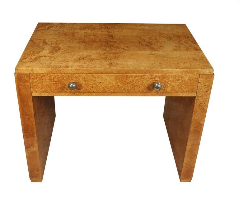 Art Deco Desk in Karelian Birch, circa 1930 In Excellent Condition For Sale In Paddock Wood, Kent