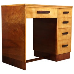 Art Deco Desk in Sycamore, circa 1930
