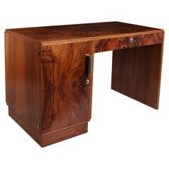 Art Deco Desk in Walnut, circa 1930