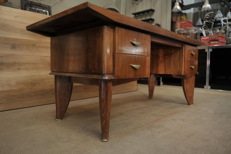 French Art Deco Desk by  Sanyas & Popot, France , circa 1930 For Sale