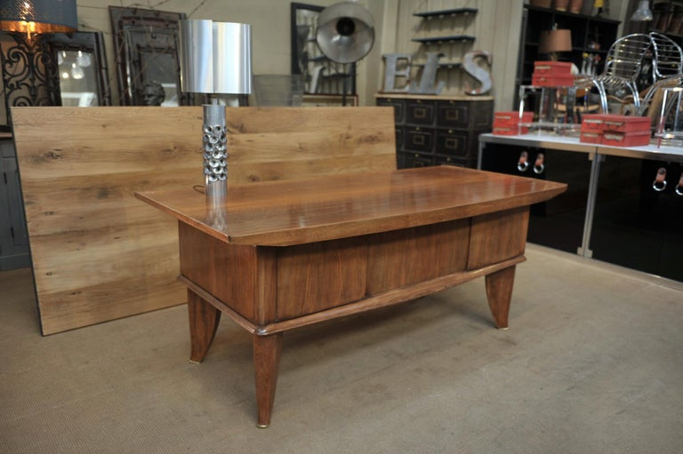 Art Deco Desk by  Sanyas & Popot, France , circa 1930 In Good Condition For Sale In Roubaix, FR