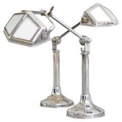 Art Deco Desk Lamps by Pirouette, circa 1930