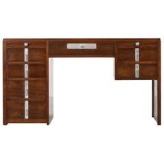 Art Deco Desk, Pierre Jeanneret/Jacques Adnet Style, Modernist