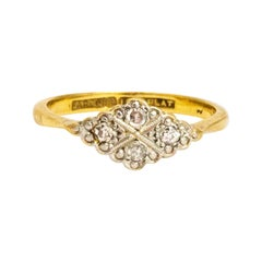 Art Deco Diamond 18 Carat Plaque Ring