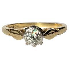 Art Deco Diamond an 18 Carat Gold Solitaire Ring