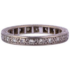 Art Deco Diamond and 18 Carat White Gold Eternity Band