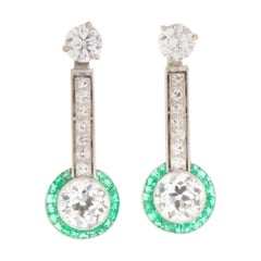 Art Deco Diamond and Emerald Enhancers