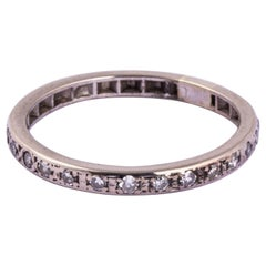 Art Deco Diamond and Platinum 2/3 Eternity Band