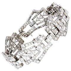 Art Deco Diamond and Platinum Bracelet, circa 1925