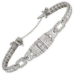 Art Deco Diamond and Platinum Estate Bracelet