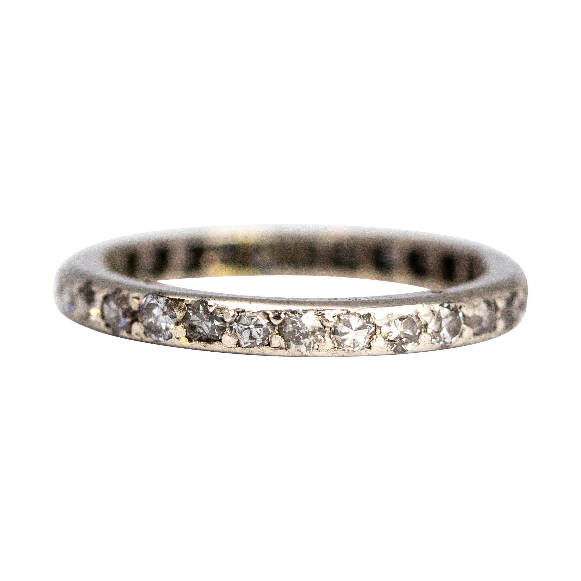 Art Deco Diamond and Platinum Eternity Band