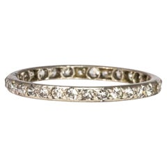 Art Deco Diamond and Platinum Full Eternity Band