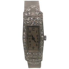 Art Deco Diamond and Platinum Timepiece