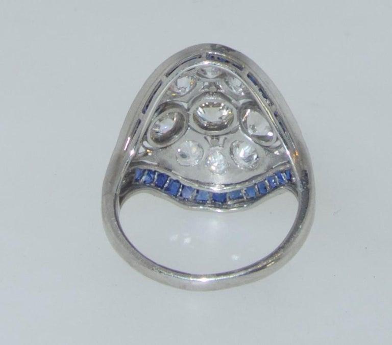 Art Deco Ring mit Diamanten und Saphiren, um 1920 10