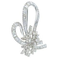 Art Deco Diamond Bow Brooch