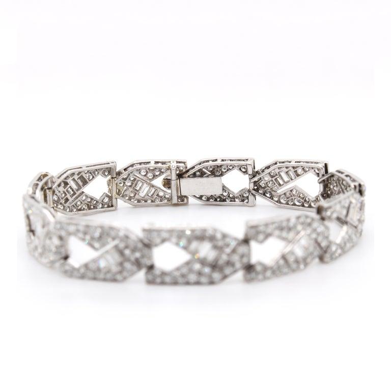 Art Deco Diamond Bracelet, circa 1930s In Excellent Condition For Sale In Idar-Oberstein, DE
