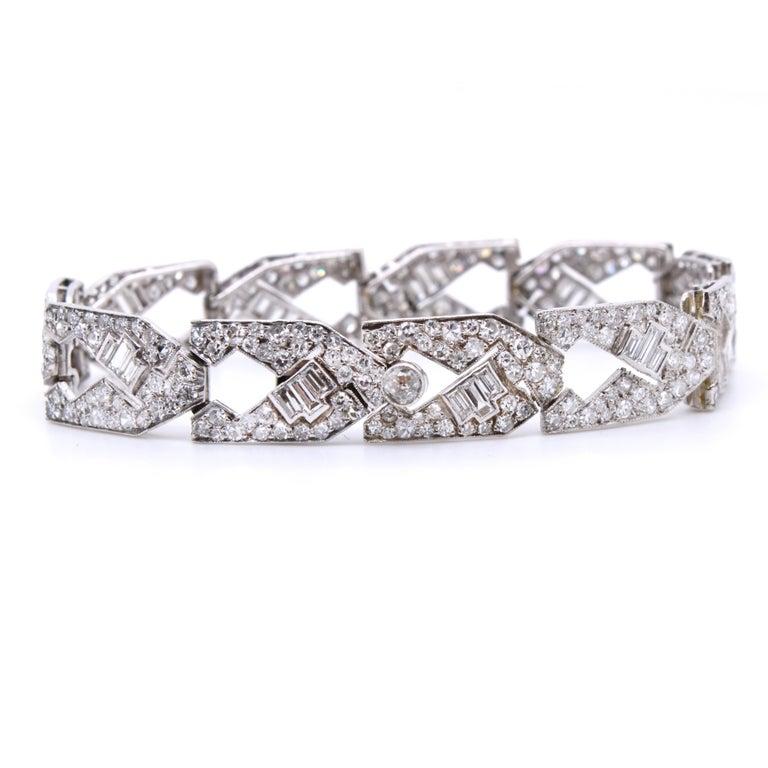 Art Deco Diamond Bracelet, circa 1930s For Sale 1