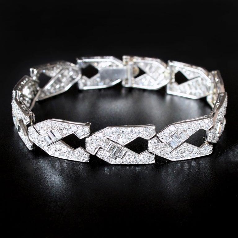 Art Deco Diamond Bracelet, circa 1930s For Sale 2